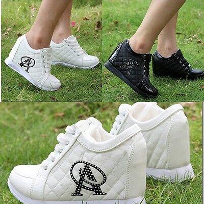 1 Stück Sneaker Sport Schuhen Hidden Wedges Turnschuhe Keilabsatz Damenschuhe