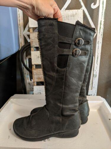Keen Bern Baby Bern Knee High Tall Boots Black Lea
