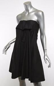 d89ecc0fc8e Image is loading YVES-SAINT-LAURENT-YSL-Womens-Black-Strapless-Pleated-