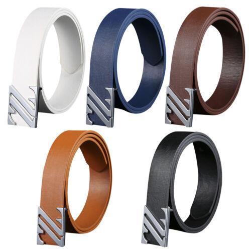 Men/'s Genuine Leather Dress Belt Casual Pin Buckle Waist Strap Belts Waistband