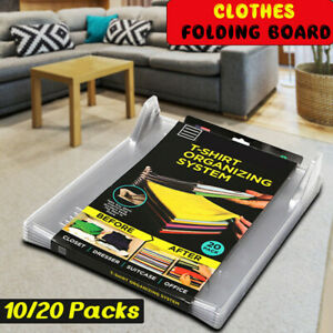 10-20-Packs-T-Shirt-Clothes-Folding-Board-Storage-Bags-Racks-Laundry-Organizer