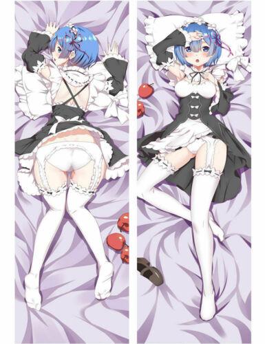 Anime Re Zero Rem Dakimakura Hugging Body Pillow Case Cover 150CM