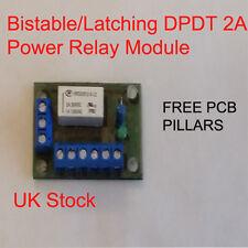 Biestable/Enclavamiento Interruptor DPDT 2A Módulo de Relé de potencia de 12v - 20v