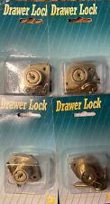 Lot Of 4 Ilco Drawer Lock 980 03 51 Cabinet Desk Drawer 34 78 19 22 Mm 2 Keys
