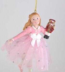 Nutcracker-Ballet-Clara-in-Pink-Dress-Resin-Christmas-Ornament-NEW-2017-L22