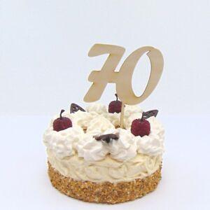 Torten Stecker Zahl Zum 70 Geburtstag Aus Holz Cake Topper