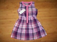 NWT Gymboree Girls Size 8 Woven Purple & Pink Plaid Dress NEW