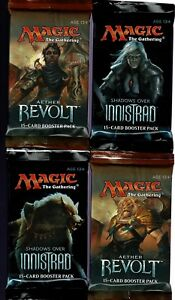 MAGIC-THE-GATHERING-AETHER-REVOLT-SHADOWS-OVER-INNISTRAD-4-BOOSTER-PACK-LOT
