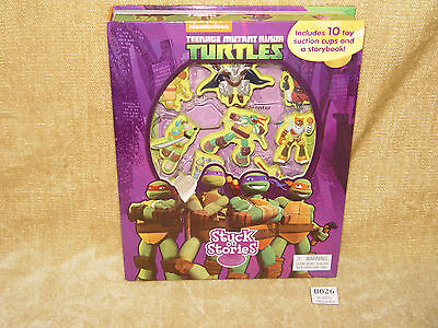 Teenage Mutant Ninja TURTLES ~ Stuck on Stories ~ 10 toy suction cups /& a story