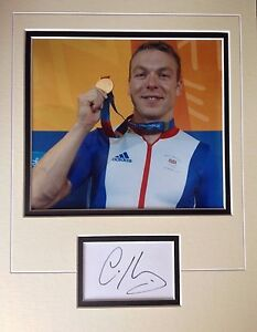Chris Hoy Superb Signed Colour Display Legendary Olympic Cyclist