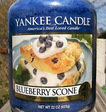 """Yankee Candle Retired """"BLUEBERRY SCONE"""" Food Large 22 oz. ~ WHITE LABEL~ NEW!"""
