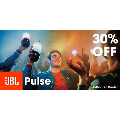 JBL Pulse 3 Waterproof Bluetooth Speaker with 360° Lightshow *Authorized Dealer*