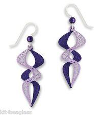 Adajio Jewelry Purple & Violet Helix with Filigree EARRINGS Sterling - Gift box