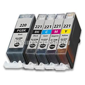 5-pk-Canon-PGI-220-CLI-221-Ink-Cartridge-PGI-220-CLI-221