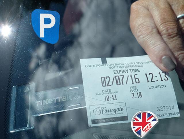 10 Pack Parking Permit Holder Ticket and Note Holders for Car Caravan Van
