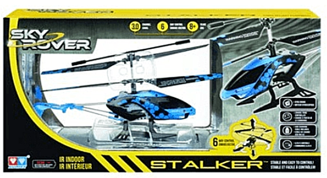 Sky Rover Stalker Helicopter IR Indoor Remote Control Toy Opened Return Untested