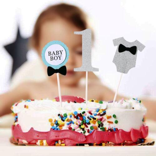 3-tlg BABY GIRL Cake Topper Torten Stecker Kuchen Deko Mädchen erster Geburtstag