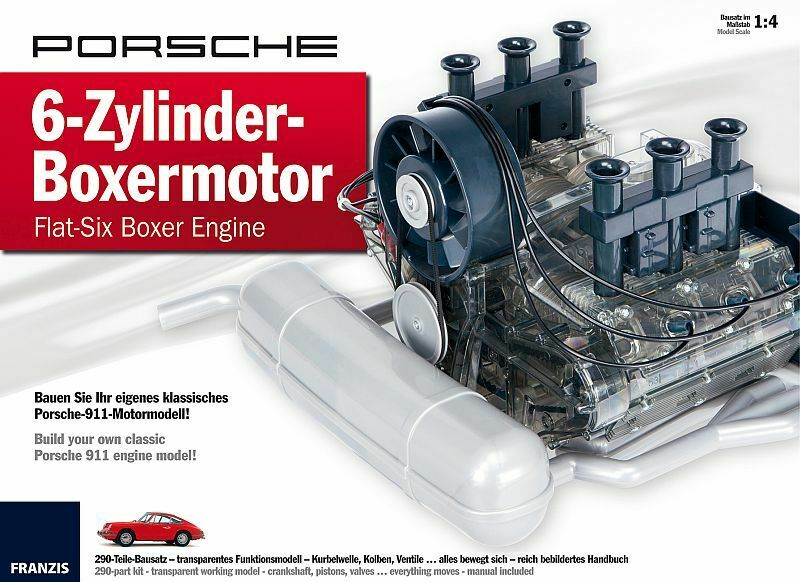 Porsche 911 6-Zylinder Boxermotor, Kit de Montage 1 4   Franzis