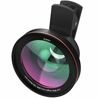 Aukey Ora Iphone Lens 100° Wide Angle + 10x Macro Clip-on Cell Phone Camera L...
