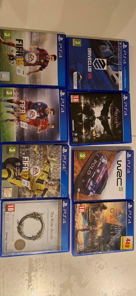 Diverse spil, PS4