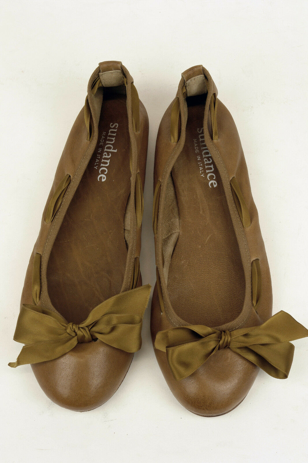 Sundance / IN ITALY / LUXURY BALLET FLAT IN / A SOFT TAN NAPA / 40 / SUPERB 6e26c4