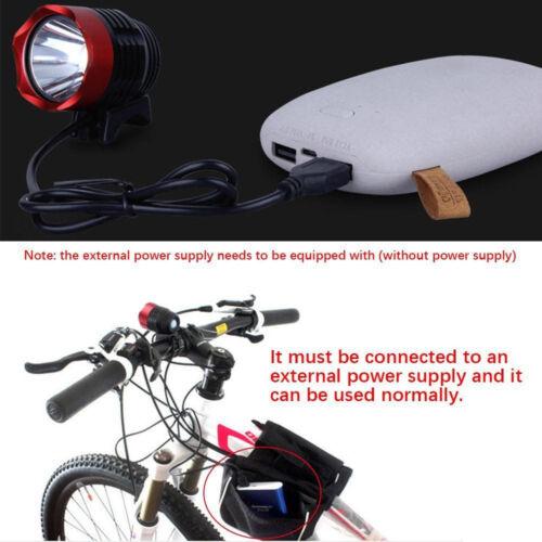 4 Modes 15000LM 2x XML T6 LED Bicycle Lamp Bike Light Headlight Cycling Torch US