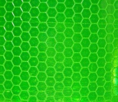 200mm X 25mm Strip  REFLECTIVE TAPE GREEN STICKY BACK VINYL