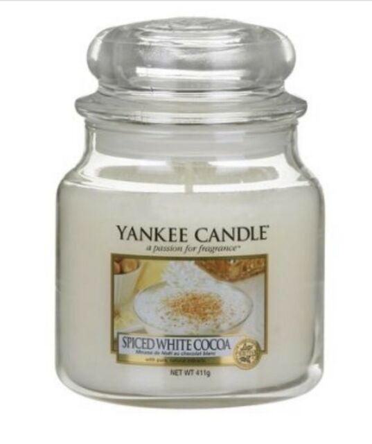 Medium Jar Candle, Spiced White Cocoa NEW