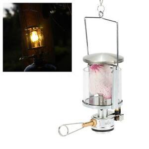 Image Is Loading KEROSENE INTEGRATED MINI GAS LAMP MANTLE CHIMNEY BUTANE