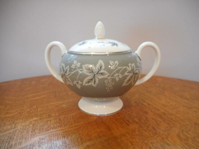Wedgwood Grey Moselle bone china globe shape sugar box and lid  R4283
