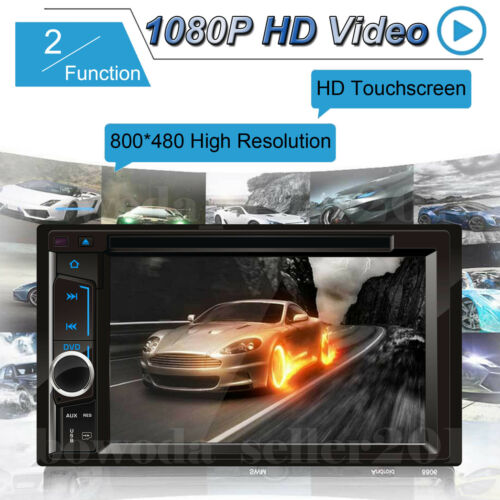 """HD Bluetooth Car Stereo Radio 2DIN 6.2/"""" Player Touch Screen w// Camera For Ford"""