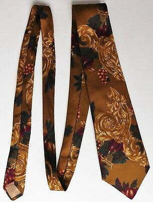 Figs and Grapes tie All Silk classical design by Greenwoods Mens Wear fruit