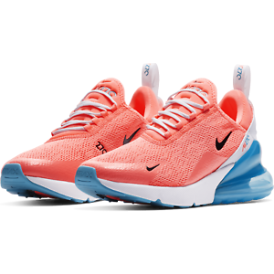 Details about Nike Women's Air Max 270 Running Shoes Lava Glow Blue Fury White CI5856 600 NEW