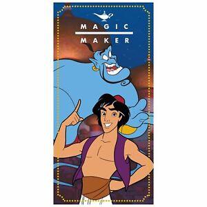 Disney-Aladdin-Magique-Fabriquant-Serviette-Bain-Plage-100-Coton-Enfants