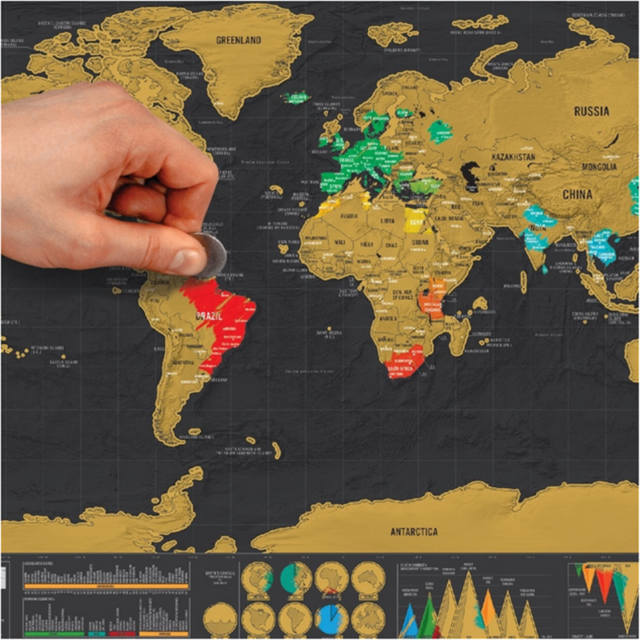 Black scratch off map small world map personal map for travel gift black scratch off map small world map personal map for travel gift 1pcs gumiabroncs Images