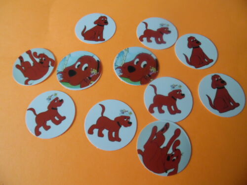 Pre Cut One Inch Bottle Cap Images CIFFORD THE BIG RED DOG Free Shipping