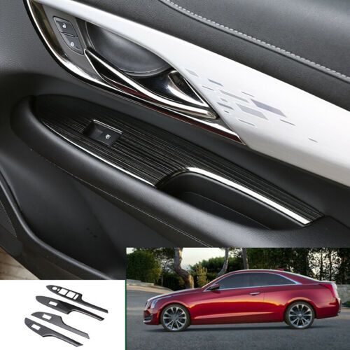 For Cadillac ATS 2013-2019 black titanium Window lift panel switch cover trim