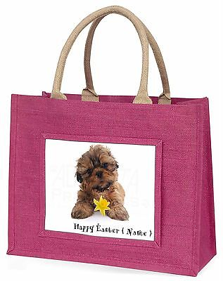 personalisiert Name Shih Tzu große rosa Einkaufstasche WEIHNACHTEN Prese