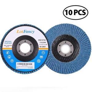 "100 Grit 5 Lot of Premium Zirconia Flap Disc 7/""x7//8/"""