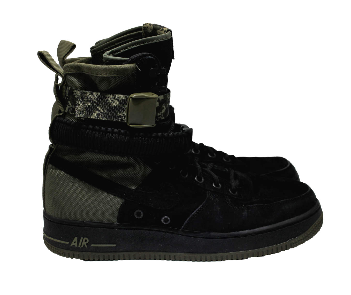 NIKE SF Mens Air Force 1 Olive Camo High Top Boot Sneakers Size 9.5 NEW