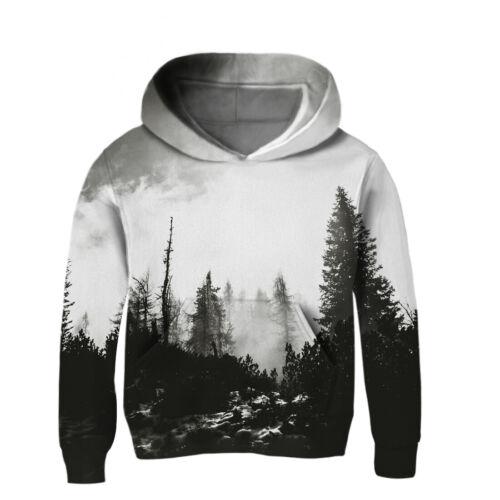 Boys Girls 3D Print Hooded Sweatshirts Long Sleeve Cotton Pullover Hoodies 3-14Y