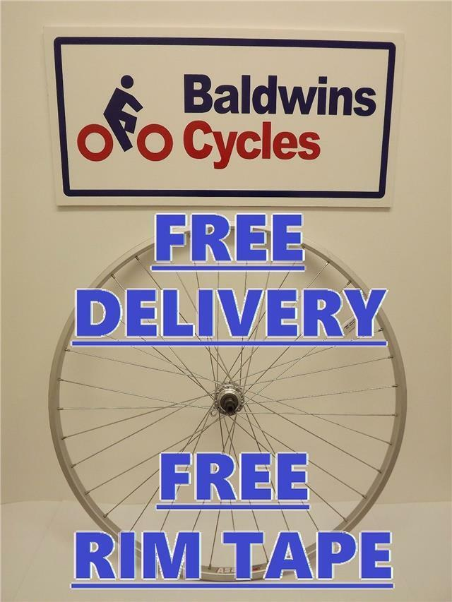 700c REAR NARROW RIM Hybrid   Road Bike Wheel - Q R - SCREW ON Alloy Hub