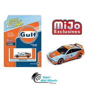 Johnny-Lightning-50th-Anniversary-1990-HONDA-CRX-GULF-Mijo-Exclusive-1-64