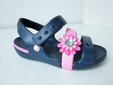 Crocs sandalen keeley  blau pink C 10  26 27  sandals petal charm navy blue rosa