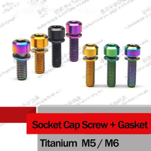 10x M5 M6 *14//16//18//20mm Titanium Steam Brake Bolts Screws Socket Cap Head
