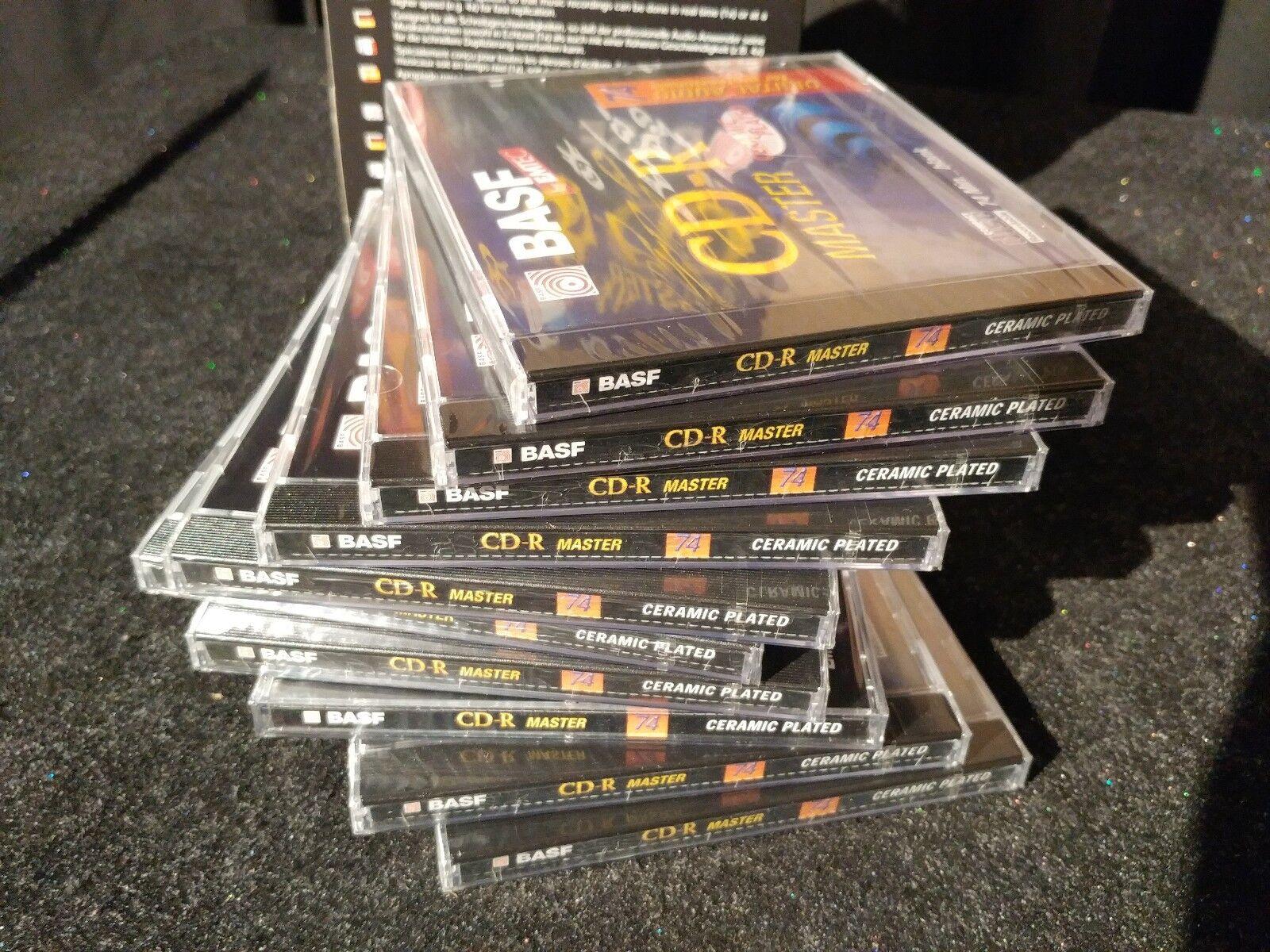 Box of 10 BASF CD-R MASTER 74 CERAMIC PLATED BLANK CD BY EMTEC BRAND NEW