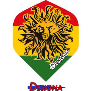Jamaika Löwe Jamaica Lion Dart 6 Stück Designa DSX Flights NEU