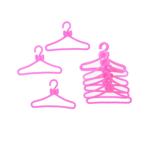10X Hangers Accessories For  Doll Clothes Dress Skirt Shoes Pretend Gift H/&P