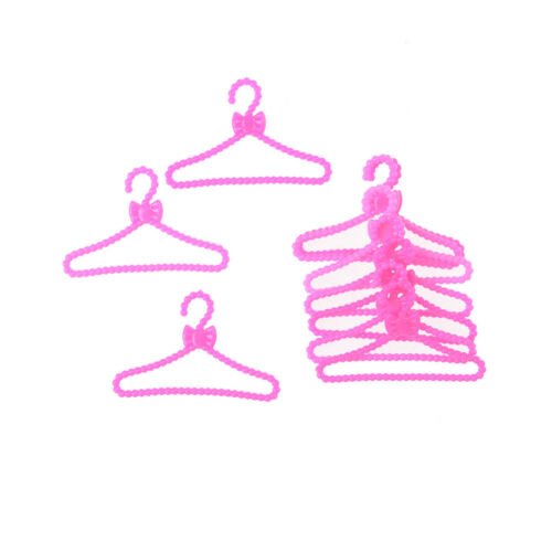 10X Hangers Accessories For  Doll Clothes Dress Skirt Shoes Pretend GiftJB