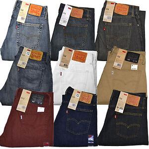 Levis-514-Jeans-Vaqueros-Formo-Recto-Hombres-Nuevo-29-30-31-32-33-34-36-38